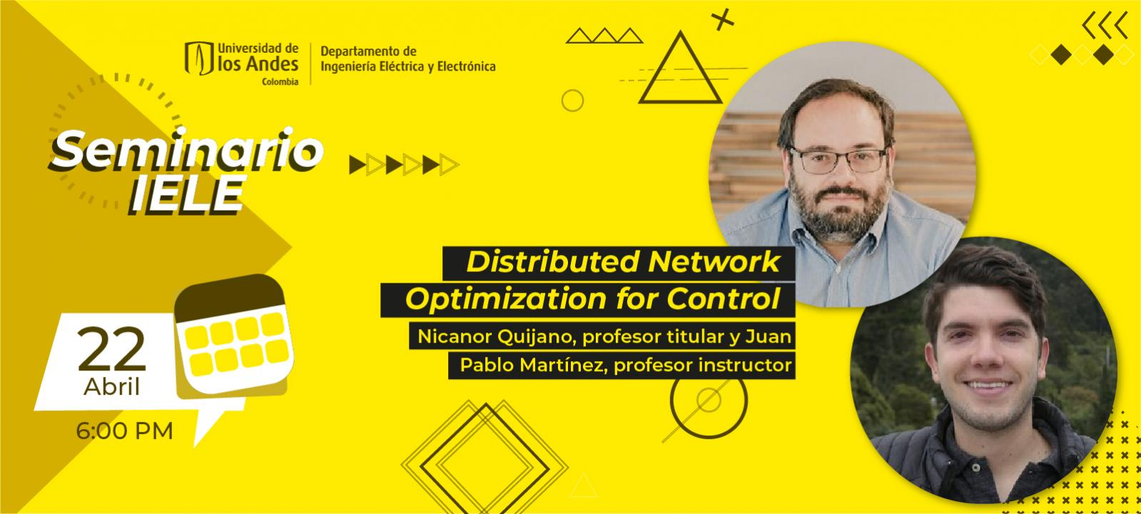 Distributed Network Optimization for Control